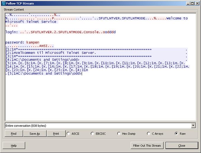 Telnet, server, client, wireshark, NTLM, sc exe, tlntsvr